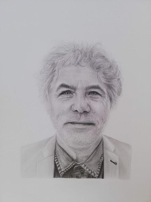 portret grafiet
